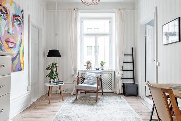 瑞典60㎡清新公寓设计(来源:中国建筑装